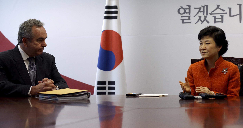 A presidente eleita da Coreia do Sul,  Park Geun-hye.