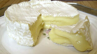 A very ripe Camembert cheese