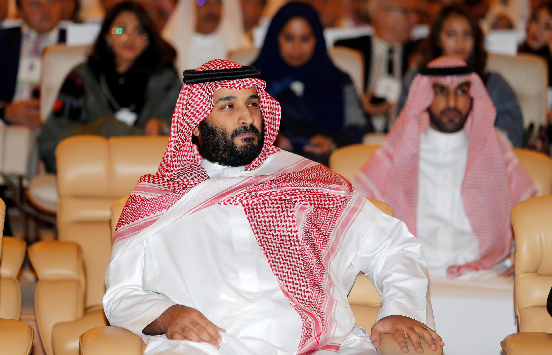 El príncipe Mohamed bin Salmán en una conferencia en Riad el 24 de octubre de 2017.