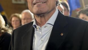 Artur Mas, atual presidente da Catalunha e candidato à reeleição.