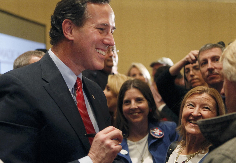 Ứng cử viên đảng Cộng hoà Rick Santorum (REUTERS)