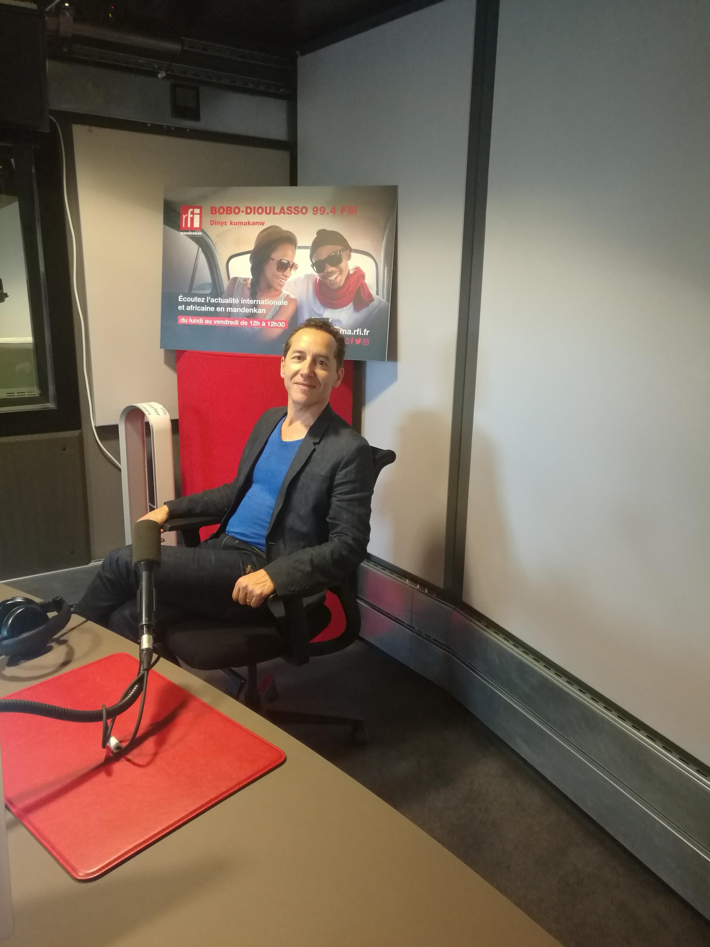 Olivier Rogez, grand reporter du service Afrique pour RFI, auteur de son premier roman «L'Ivresse du sergent Dida».