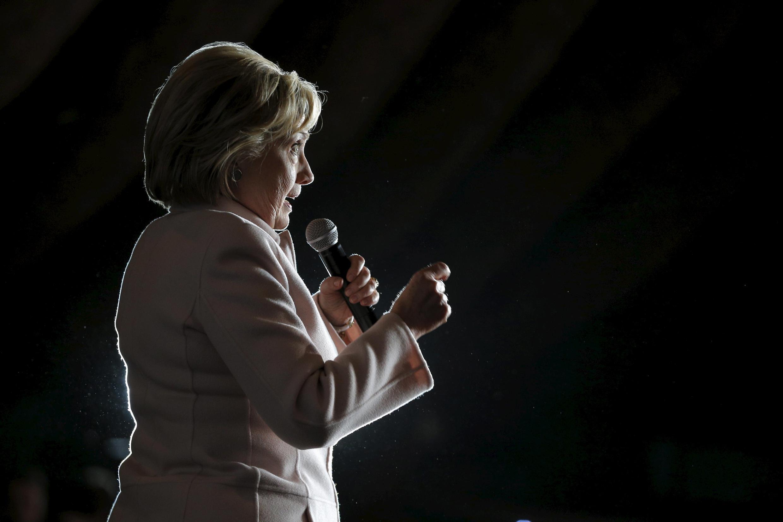 Hillary Clinton lors d'un meeting à Davenport dans l'Iowa, le 29 janvier 2016.