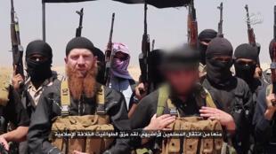 Photo d'Omar al-Shishani à partir d'une capture d'écran sur un site jihadiste, le 29 juin 2014.