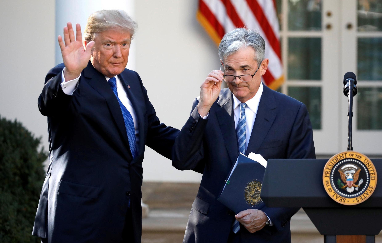 Le président américain Donald Trump et Jerome Powell, devenu le président de la FED, ici, à Washington, le 2 novembre 2017.