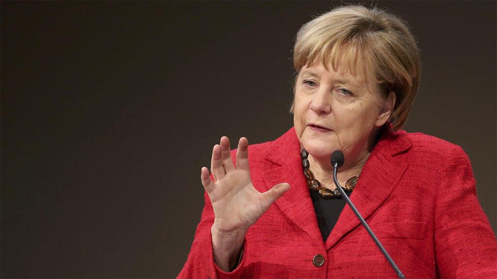 La chancelière Angela Merkel, en conférence à Berlin, le 6 octobre 2016.