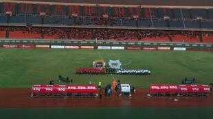 Moçambique acolheu o Ruanda no Estádio do Zimpeto, em Maputo, a 14 de Novembro de 2019.