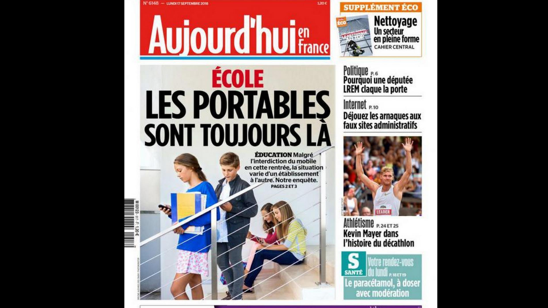 O jornal francês Aujourd'hui en France faz um balanço dos primerios dias de aplicação da lei que proibiu os uso de celulares nas ecolas.