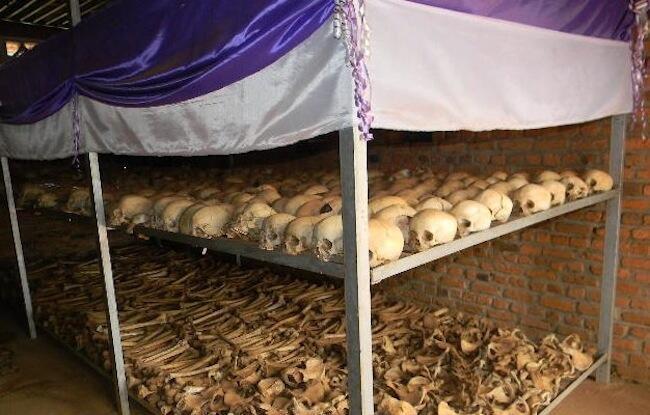 Mabaki ya maiti za watu wa Rwanda ambao walipoteza maisha kwenye mauaji ya kimbari ya mwaka 1994