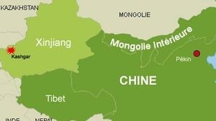 喀什市位于中国新疆最西端