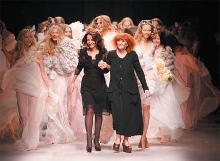 Sonia Rykiel et Nathalie Rykiel, défilé Printemps/Eté 2008.