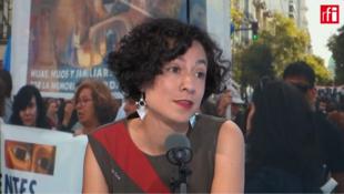 """Verónica Estay es miembro del colectivo """"Historias desobedientes"""" formado por familiares de torturadores de la dictadura chilena."""