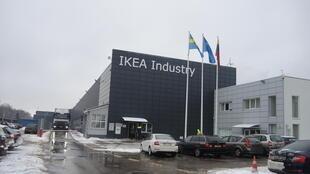 Une usine Ikea à Kazlu Ruda. La firme suédoise contribue aussi au budget municipal.