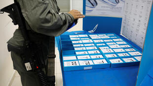 Bureau de vote israélien dans la colonie de Beit Horon, le 8 avril 2019 (photo d'illustration).