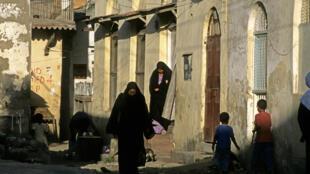 Quartier de la vielle ville de Mombasa, au Kenya.
