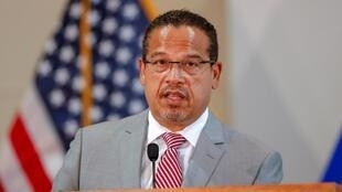 Le procureur Keith Ellison, en charge de l'affaire sur la mort de George Floyd. Ici à Saint Paul (Minnesota), le 3 juin 2020.