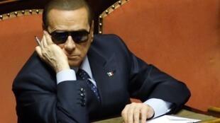 O líder do Partido de Centro-direita(PDL), Sílvio Berlusconi.