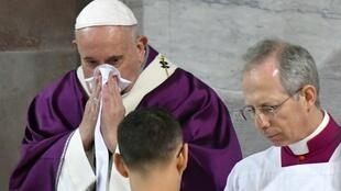 Pope Francis has been seen coughing and blowing his nose for days