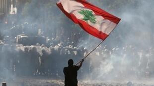 Manifestation à Beyrouth, le 8 août 2020.