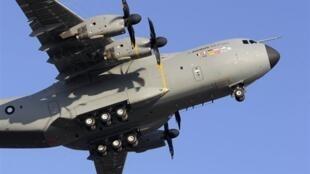 L'avion de transport militaire A400M.