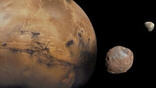 Phobos and Deimos, the Martian moons