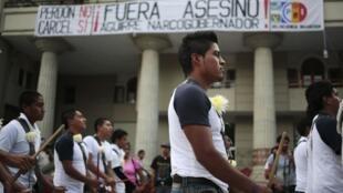 Protesta en Chilpancingo, estado de Guerrero.