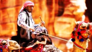 Bédouin traditionnel dans le sud de la Jordanie.