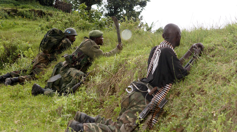 Askari wa Jamhuri ya kidemokrasia ya Kongo katika operesheni za kijeshi, mashariki mwa DRC Oktoba 16, 2013,