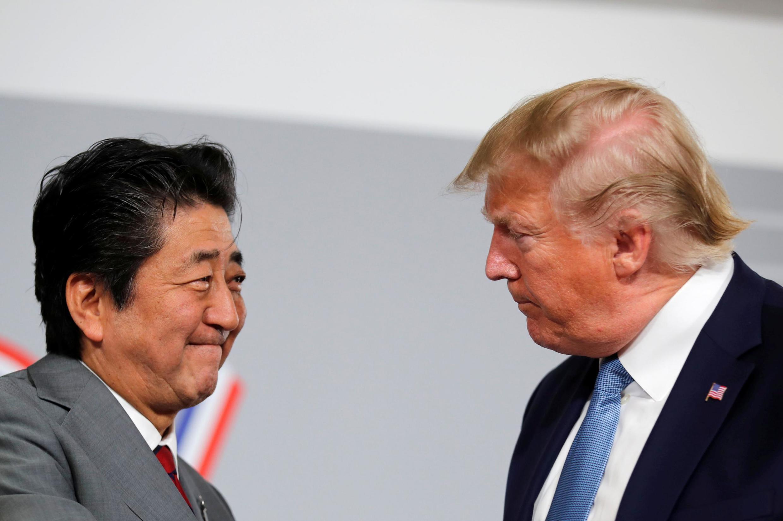 Donald Trump et Shinzo Abe ont tenu une réunion bilatérale lors du sommet du G7 à Biarritz, en France, le 25 août 2019.