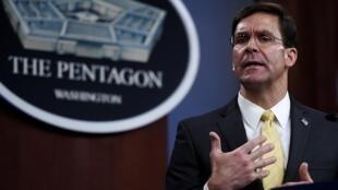 Le chef du Pentagone Mark Esper.