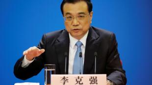 Thủ tướng Trung Quốc Lý Khắc Cường phát biểu tại một cuộc họp báo sau lễ bế mạc kỳ họp Quốc Hội, Bắc Kinh, ngày 20/03/2018.