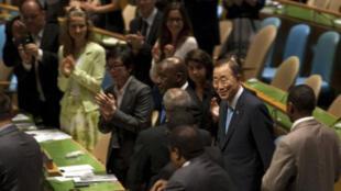 La Asamblea general de las Naciones Unidas adoptó una resolución nombrando Ban Ki-Moon para un segundo mandato como Secretario general de la ONU que dará comienzo el 1° de enero de 2012 para  finalizar el 31 de diciembre de 2016.