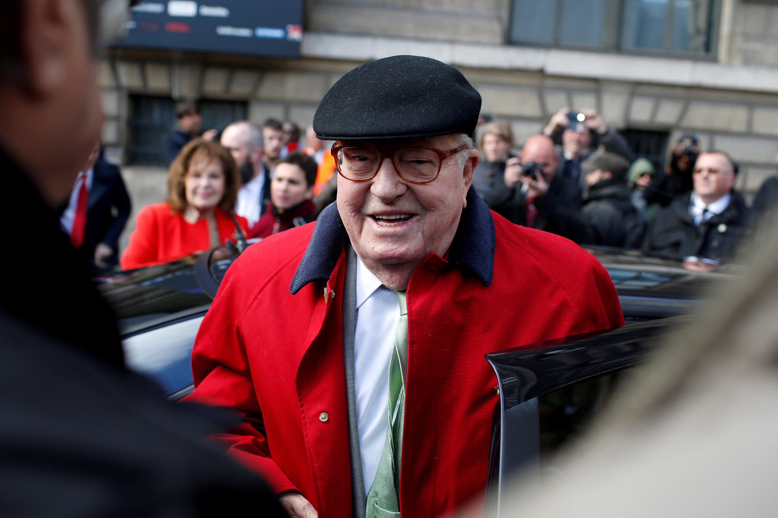 Jean-Marie Le Pen at the National Front's annual May Day parade last year