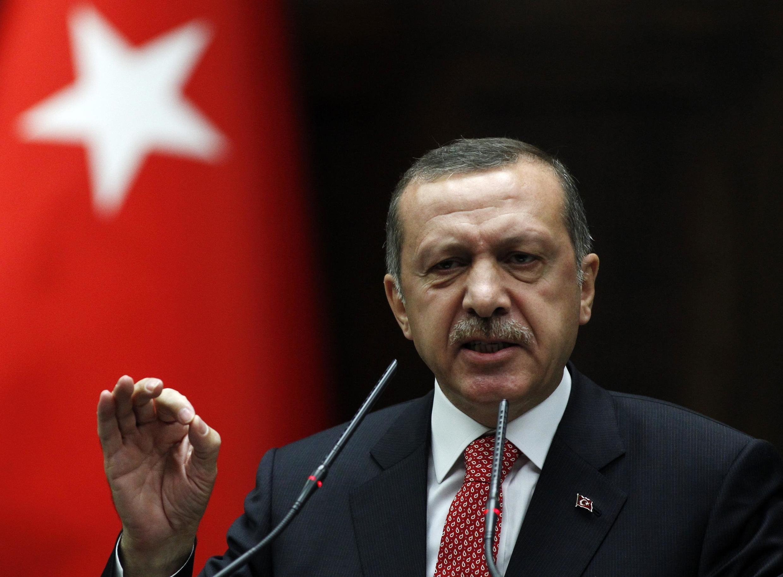O primeiro ministro turco, Recep Tayyip Erdogan