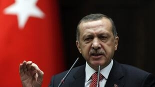 Le Premier minsitre turc Recep Tayyip Erdogan.