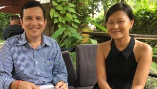 Le plasticien Mak Rémissa et l'historienne de l'art et professeure des Universités Soko Phay.