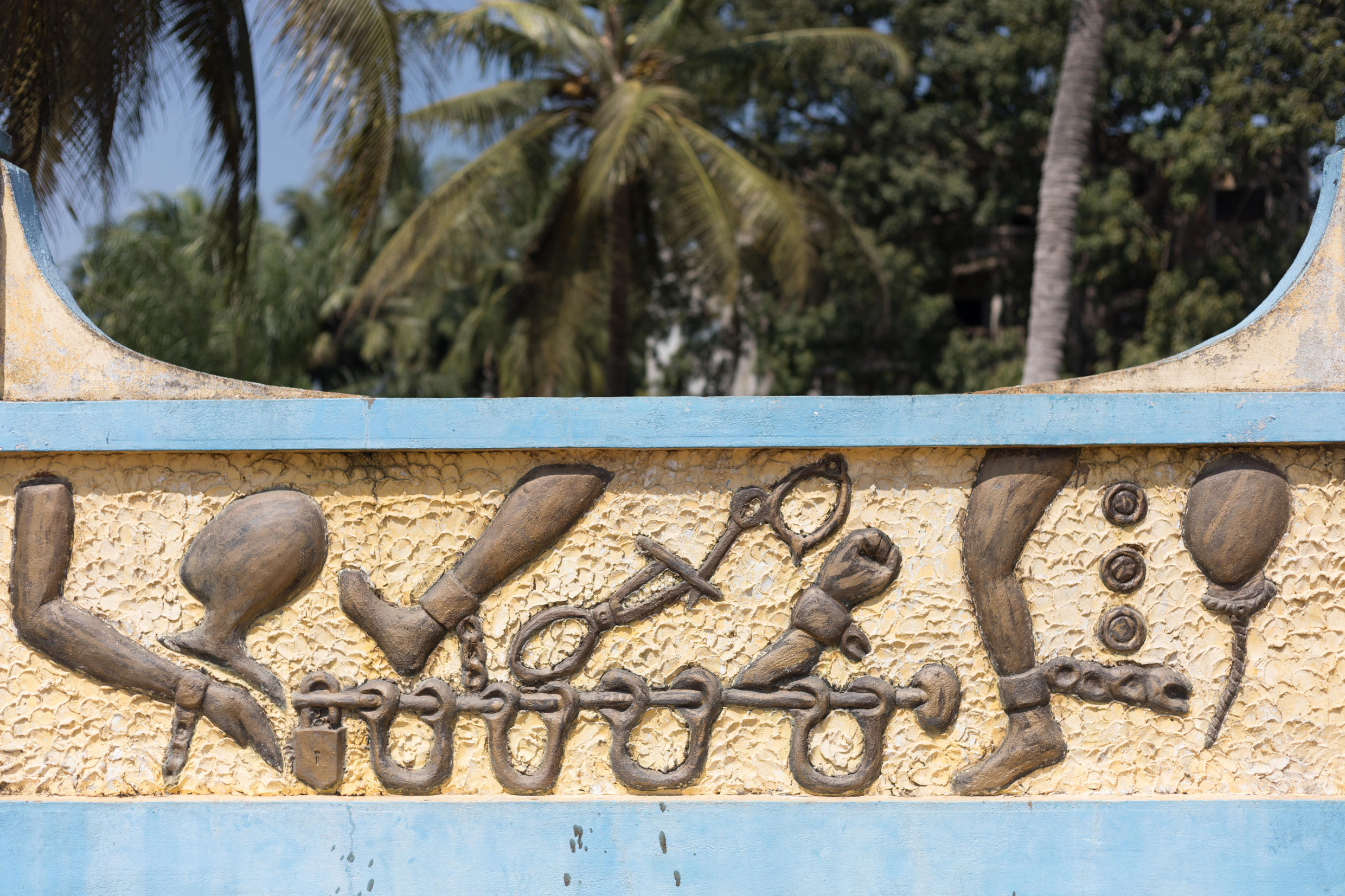 Chained: The Zomachi memorial in Ouidah reminds the world of the curse of slavery