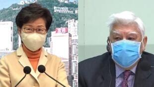 国安窃听改由特首林郑月娥(左)批核,监听专员石辉(右)无权监督。