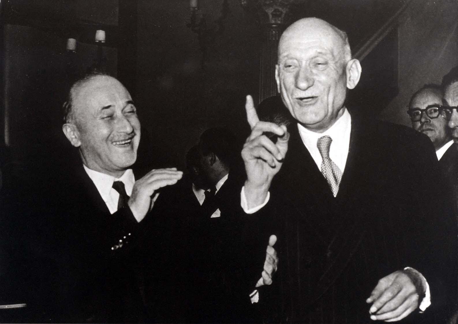Jean Monnet et Robert Schuman en 1953.