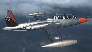 L'avion Fouga CM 170 Magister, vendu aux enchères à Paris.