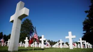 Le cimetière américain de Colleville-sur-Mer, en Normandie.