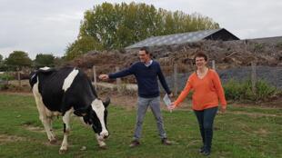 Babette et Jean-Marc Burette, à la Ferme des Pâquerettes à Fleurbaix.