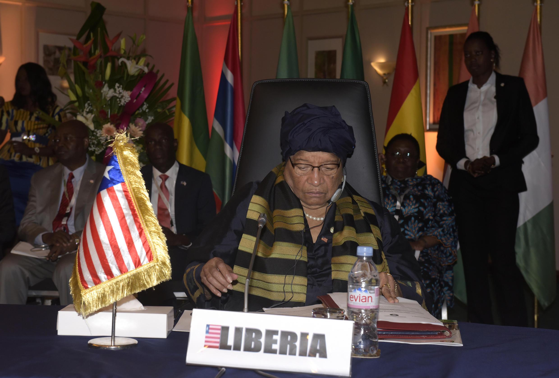 La présidente du Liberia, Ellen Johnson Sirleaf, à l'occasion de la 49ème conférence des chefs d'Etat de la Cédéao, le 4 juin 2016 à Dakar.
