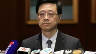 香港保安局局长李家超资料图片