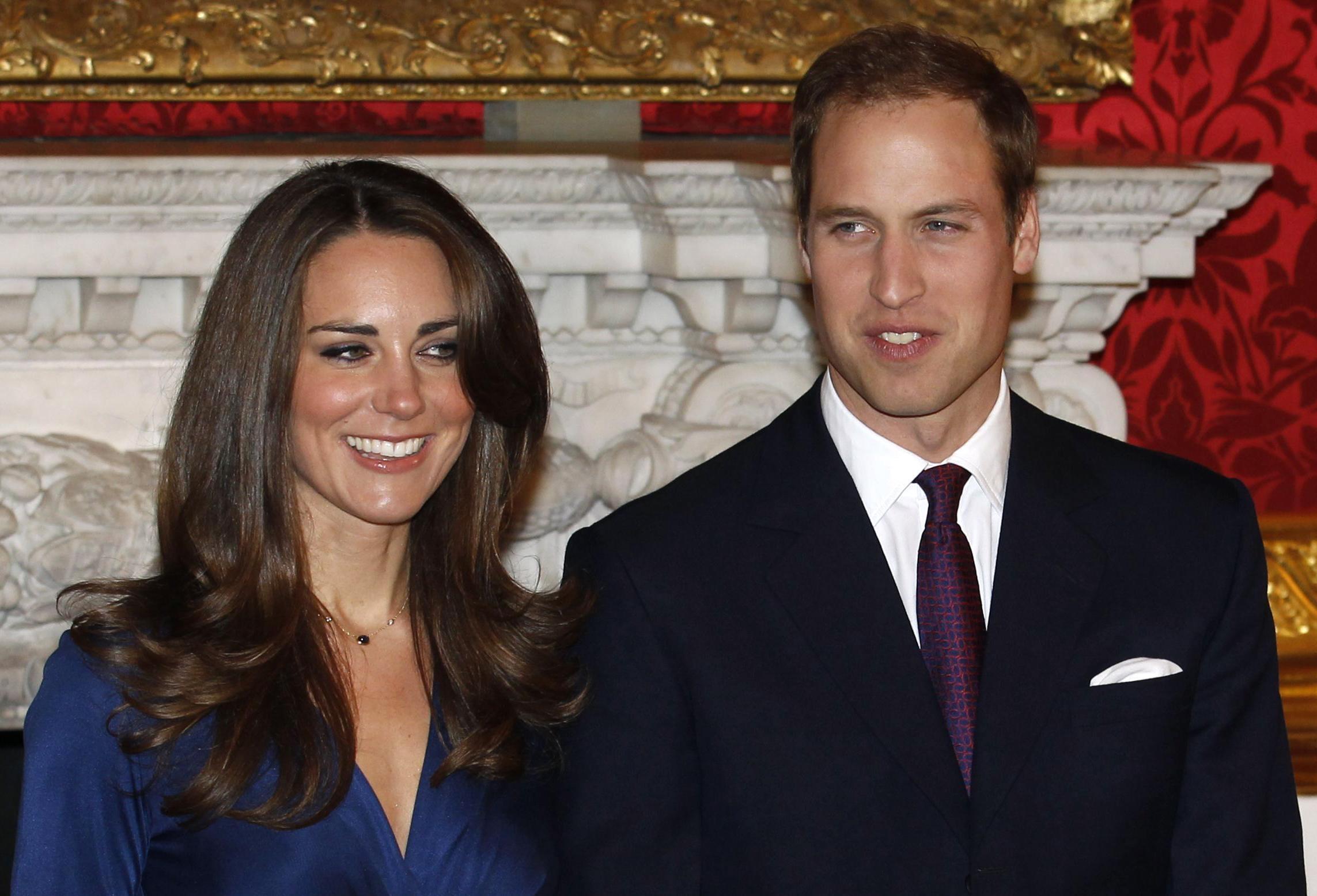 Le prince William et sa future épouse Kate Middleton.