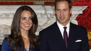 Le prince William et sa future épouse Kate Middleton.