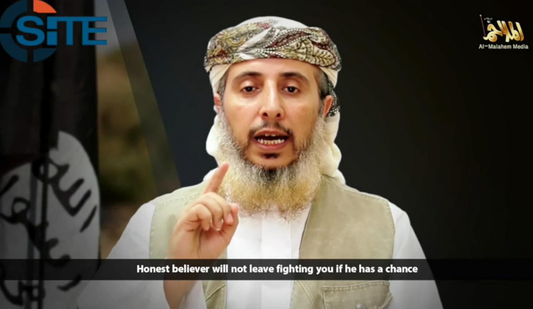 Nasser bin Ali al-Ansi claims responsiblity for the Charlie Hebdo attacks in January 2015