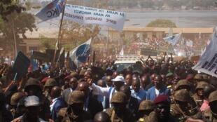 Tawagar shugaban Jamhuriyyar Demokradiyyar Congo Felix Tshisekedi a ziyararsa yankin da rikicin kasar ya tsananta.