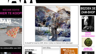 Home page of Zam Africa magazine