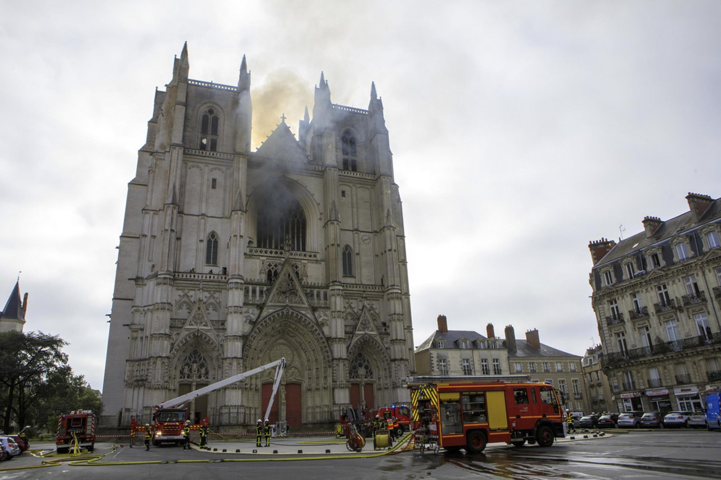 Nantes Cathedral was ravaged by fire on 18 July 2020.